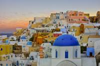 Oia Evening Colors in Santorini, Greece