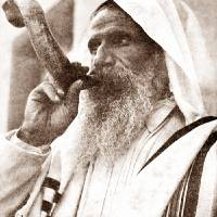 BLOWING THE RAM HORN (SHOFAR) ON YOM KIPPUR,  RO Art Prints & Posters by VINTAGE PHOTOS 1900