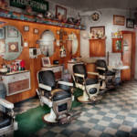 """Barber - Frenchtown Barbers"" by mikesavad"