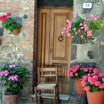 """Uneven Tuscan Doorway"" by DonnaCorless"