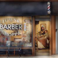 """Barber - Getting a hair cut"" by mikesavad"