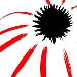 """""""Coneflower Black White And Red Series"""" by bettynorthcutt"""