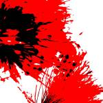 """Splatter Black White And Red Series"" by bettynorthcutt"