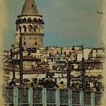 """Galata Tower and the Galata Bridge"" by HAX"
