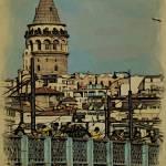 """Galata Tower and the Galata Bridge"" by HAX"