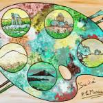 """Sicily on a palette"" by Loredana_Messina"