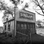 """Old Sinclair Station (Black & White)"" by dkocherhans"