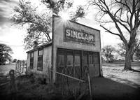 Old Sinclair Station (Black & White)