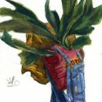 """Self Portrait with Staghorn Fern"" by dax"