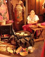 Mexican Girl making Tortillas, Playa Del Carmen. M