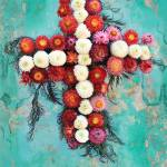 """Folk Art Wreath on Peeling Paint Wall in Guate"" by charker"