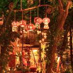 """Night Lanterns in the Courtyard, Playa Del Carmen,"" by RoupenBaker"