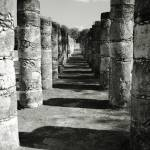 """Columns of a Mayan Temple, Chichen Itza, Mexico"" by RoupenBaker"