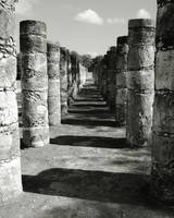 Columns of a Mayan Temple, Chichen Itza, Mexico