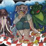 """Imaginary Tea party"" by Rachelpeglerartworks"
