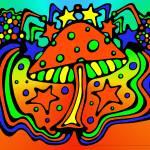 """Dancing Mushroom"" by TurtleDoveCreations"