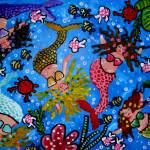 """Whimsical Sea Life With Mermaids"" by reniebritenbucher"