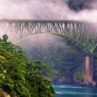 Bridge in the Fog Art Prints & Posters by Rick Lawler