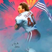 """Pat Tillman, NFL Arizona Cardinals Hero"" by artofvela"