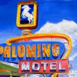"""Route 66 Retro Neon Sign At Palomino Motel, Tucumc"" by KeatingArt"
