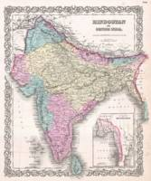 Vintage Map of India (1855)