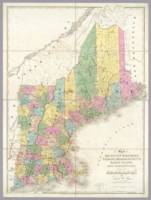 Vintage Map of New England (1839)