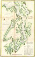 Vintage Map of The Puget Sound (1867)