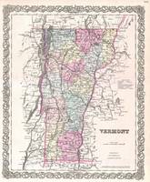 Vintage Map of Vermont (1855)