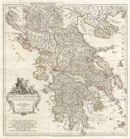 Vintage Map of Greece (1794)