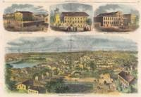 Vintage Pictorial Map of Richmond VA (1862)
