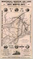 Vintage Map of The Montreal to Boston Railroad Sys