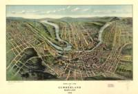 Vintage Map of Cumberland Maryland (1906)