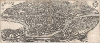 Vintage Map of Rome Italy (1652)