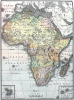 Vintage Map of Africa (1890)