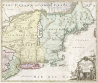 Vintage Map of New England (1716)