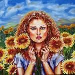 """Summers Sunflowers"" by ArtlbyYelena"