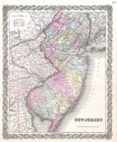 Vintage Map of New Jersey (1855)