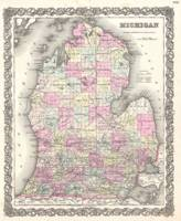 Vintage Map of Michigan (1855)