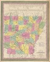 Vintage Map of Arkansas (1853)