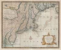 Vintage Map of New England (1747)