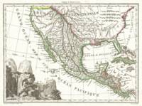 Vintage Map of Mexico (1810)