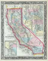 Vintage Map of California (1860)