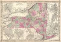 Vintage Map of New York (1864)