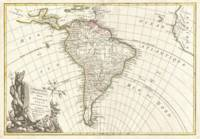 Vintage Map of South America (1762)