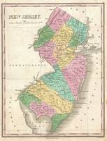Vintage Map of New Jersey (1827)