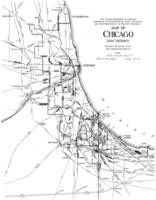 Vintage Map of The Chicago Railroads (1913)