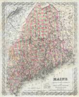 Vintage Map of Maine (1894)