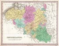 Vintage Map of Belgium (1827)
