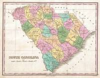 Vintage Map of South Carolina (1827)
