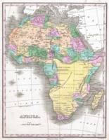 Vintage Map of Africa (1827)